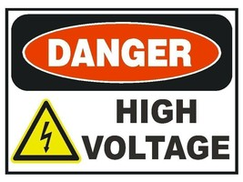 Danger High Voltage Sticker Safety Sticker Sign D180 OSHA - $1.45+