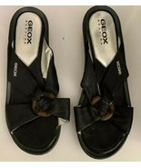 GEOX RESPIRA Women's Lether Flat Sandals  Pattern Flip Shoes! Size (38) 7.5 - $34.65
