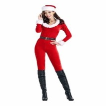 Santa Clause Jumpsuit Holiday Christmas Festival Fantasy Party Costume F... - $55.24