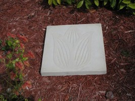 "DIY Tulip Flower Stepping Stone Concrete Mold, Large 18x18x2.25"", FAST FREE SHIP image 2"
