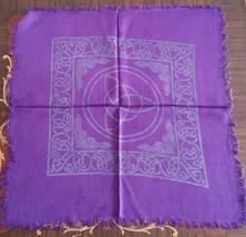 Altar Cloth Charmed Celtic Triquetra 18 x 18  Purple & Black - $6.45