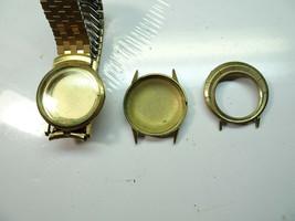 3 VINTAGE BULOVA GOLD PLATED GOLD FILLED CASE PARTS FOR RESTORATIONS 1950'S - $110.30