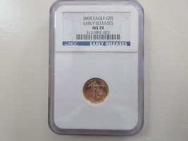 2008 , Eagle G5$ , Early Release , MS 70 , NGC - $450.00