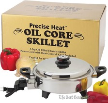 3.5qt T304 3-ply Stainless Steel Oil Core Skillet Low-Dome 120V, 1300 watt - $149.99