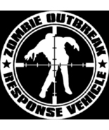 Zombie Outbreak Response Vehicle Vinyl Decal Sticker  - $5.00