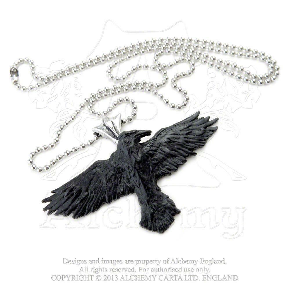Black Raven Pendant by Alchemy Gothic