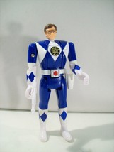 VINTAGE POWER RANGERS BLUE POWER RANGER FLIP HEAD ACTION FIGURE BANDAI 1993 - $18.57