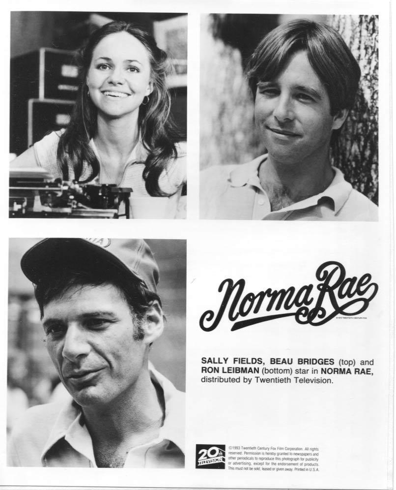 Norma Rae Sally Field Beau Bridges Ron Leibman Twentieth Century Fox Press Photo