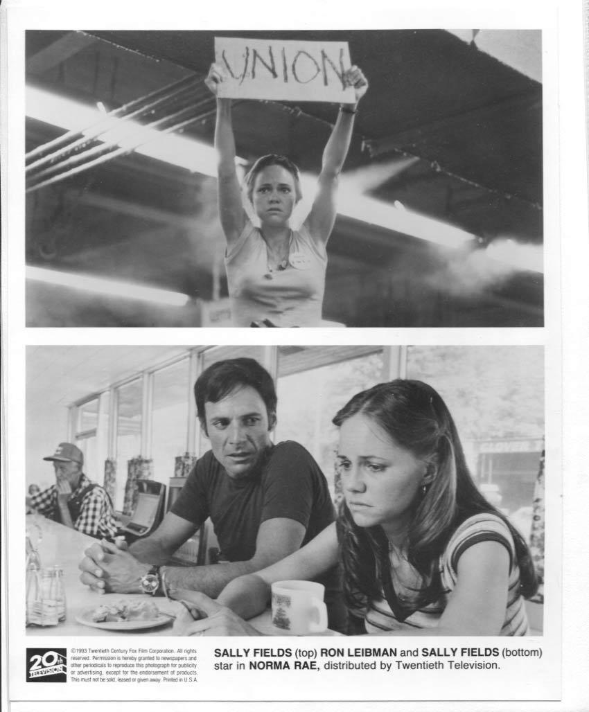 Norma Rae Sally Field Ron Leibman Press Publicity Promo Photo Movie Film