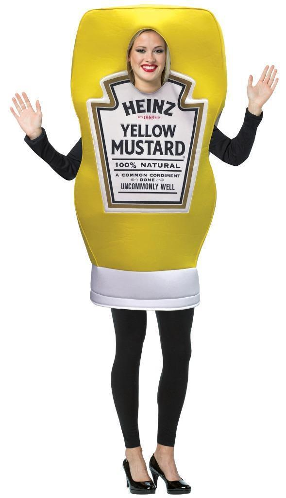 Heinz Mustard Squeeze Costume Condiment Food Halloween Party Unique GC4867