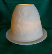 LLADRO Porcelain Lights Votive Holder ANGEL With Shooting Star - $48.38