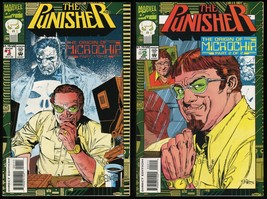 Punisher The Origin of Microchip Comic Set 1-2 Lot feat. The Punisher in The Nam - $15.00