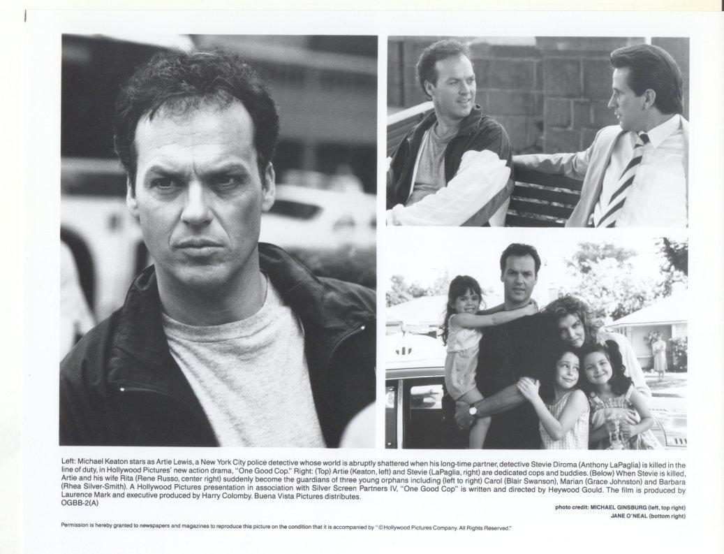 One Good Cop Michael Keaton Renee Russo Anthony LaPaglia Press Promo Photo Movie