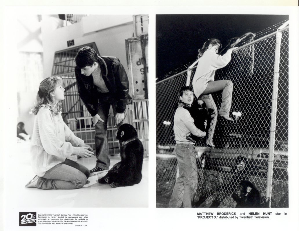Project X Matthew Broderick Helen Hunt Press Publicity Promo Photo Movie