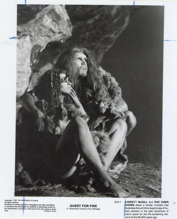 Quest for Fire Press Publicity Photo Rae Dawn Chong Everett McGill Film Movie
