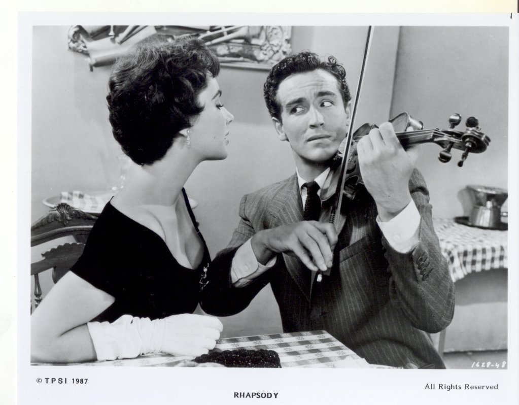 Rhapsody Elizabeth Taylor Vittorio Gassman Press Promo Publicity Photo #2 Movie