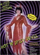 DEVIL RED SEQUINED LADIES COSTUME HOT N SPICY - $35.00