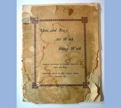 1880 antique INSTRUCTION BOOK~65 MATS,RUGS,FANCYWORK diamond dye PENNY B... - $87.95