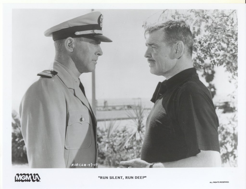 Run Silent Run Deep Clark Gable Burt Lancaster Press Promo Publicity Photo Movie