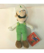 "AUTHENTIC Licensed Super Mario Bros Series 9"" Fire Luigi Stuffed Plush T... - $10.99"