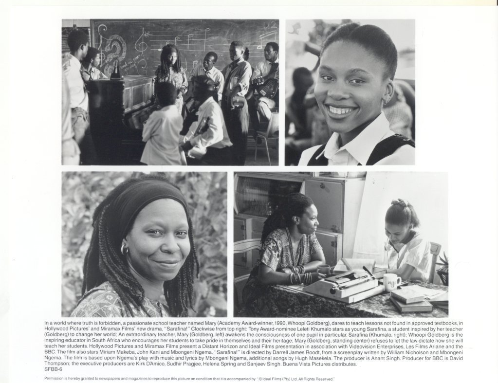 Sarafina Whoopi Goldberg Leleti Khumalo Press Publicity Promo Photo Movie Film