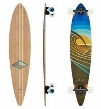 Sunset Peak Pin Tail Longboard Skateboard (Completed Deck)  - $199.00