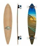 Sunset Peak Pin Tail Longboard Skateboard (Completed Deck)  - £142.86 GBP