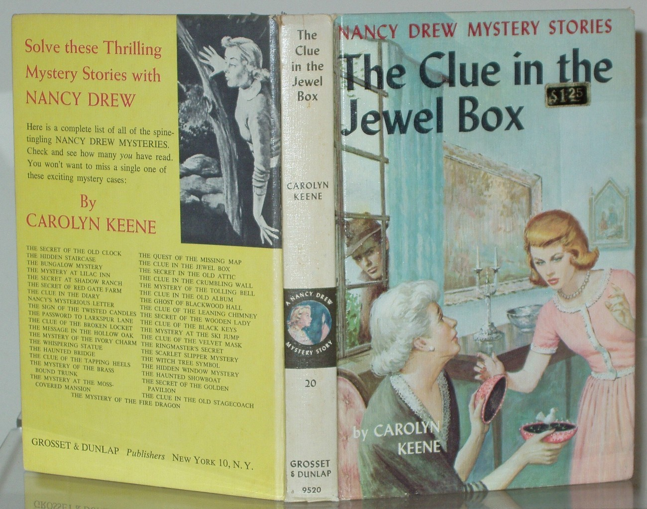 Nancy Drew #20 The Clue in the Jewel Box 1st PC Printing Vintage Matte First