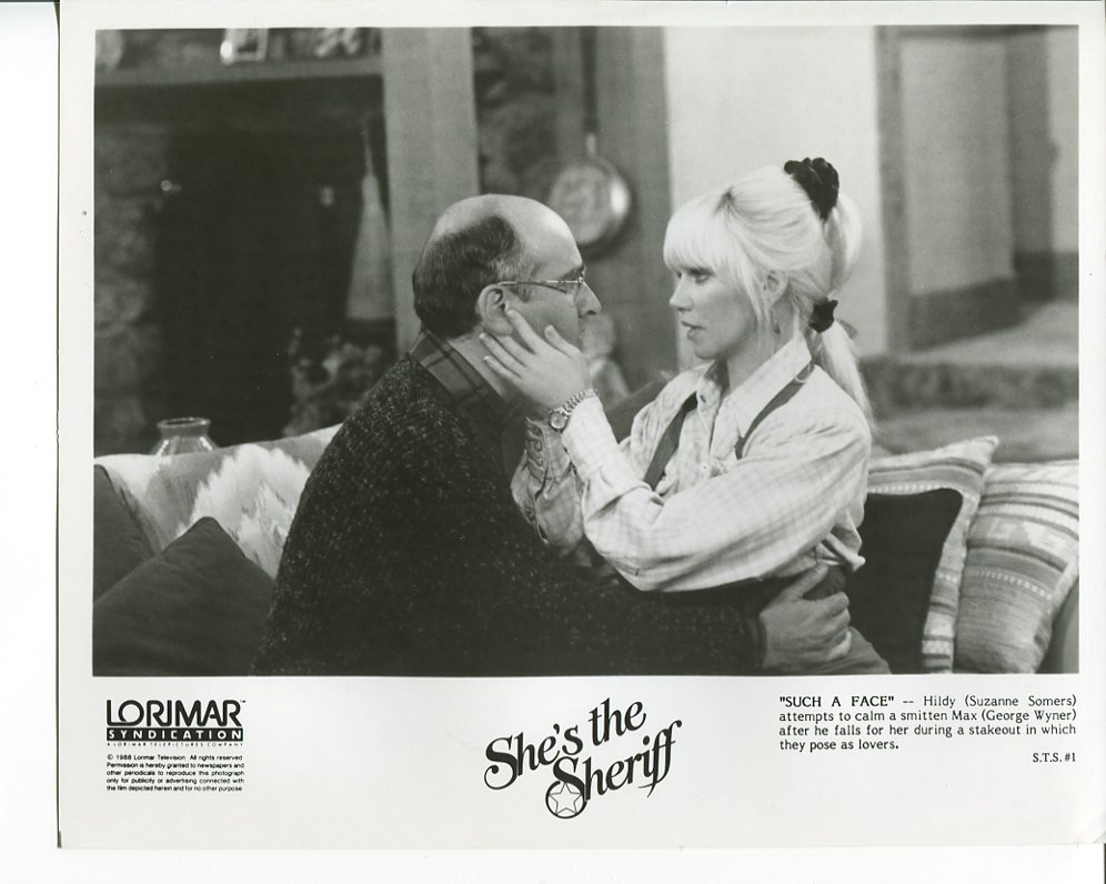 She's the Sheriff Press Photo Suzanne Somers George Wyner 1987 TV Movie