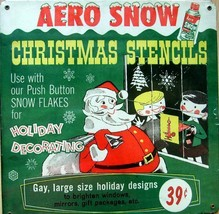 Aero Snow Christmas Stencils Metal Sign - $25.00