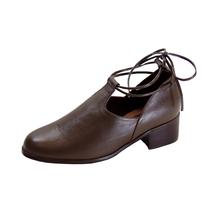 PEERAGE Drew Women's Wide Width Leather Ankle Tie Pumps - $39.95