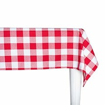 Wemay Cotton Buffalo Check Plaid Rectangle Tablecloth Family Dinners Gat... - $33.39