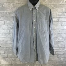 Vintage Sears Roebuck Mens Blue Long Sleeve Button Front 17 1/2 34/35 Shirt - $23.16