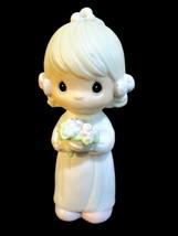 """Vintage Precious Moments Bridesmaid 1983 Johnathan & David E-2831 4"""" Tall  - $11.88"""