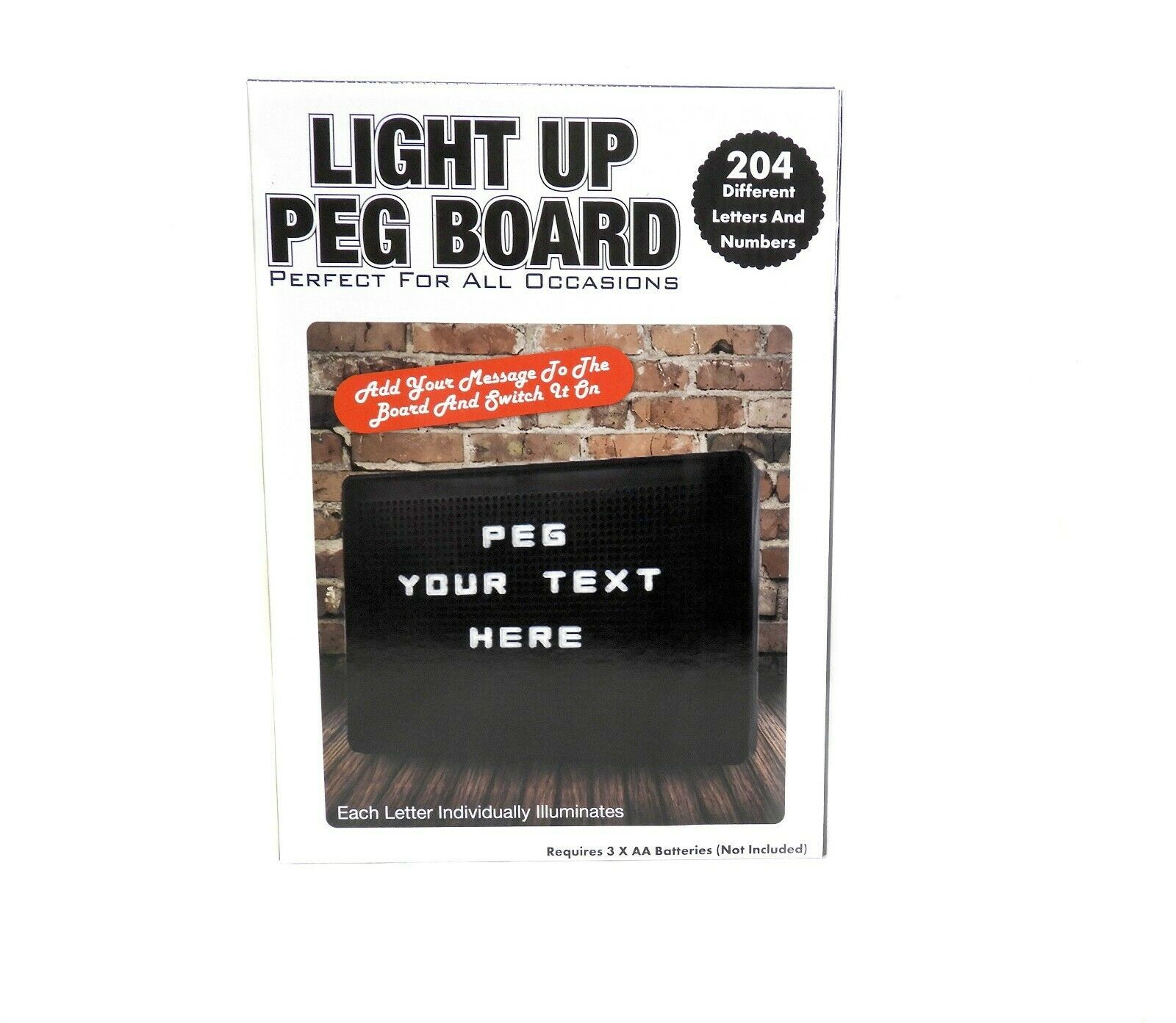 All Occasion Light Up Sign Peg Board Includes 204 Different Letters and Numbers - $14.84