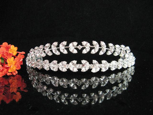 FANCY WEDDING TIARA & VEIL,BRIDAL HEADPIECE ,BRIDAL HAIR ACCESSORIES, CROWN A348