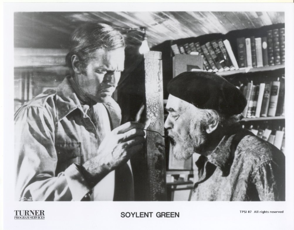 Soylent Green Charlton Heston Edward G Robinson Press Promo Photo Film Movie