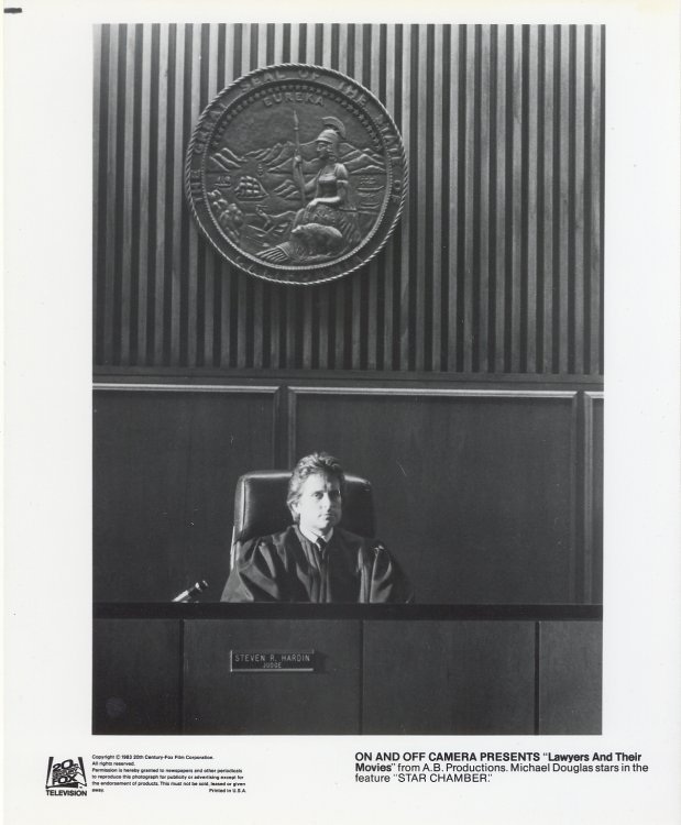 Star Chamber Press Publicity Photo Michael Douglas Lawyers and Movies Film Movie