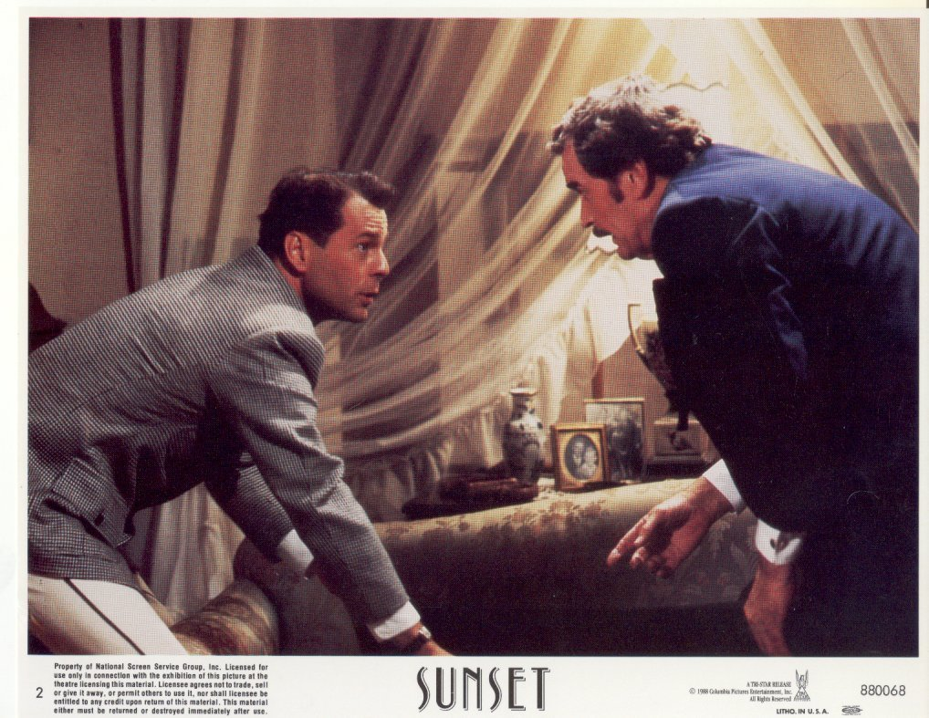 Sunset James Garner Bruce Willis Color NSS Card Press Promo Photo #2 Film