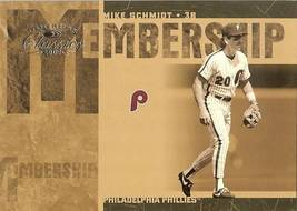 2005 Donruss Phillies Mike Schmidt Serial # 659/1000 - $2.50