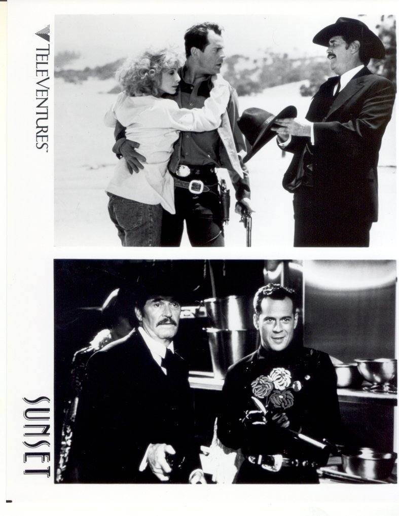 Sunset James Garner Bruce Willis Press Publicity Promo Photo Film