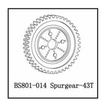 BACKDRAFT EARTHQUAKE REACTOR NITRO SPUR GEAR 43 tooth BS801-014 - $8.99