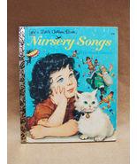 NURSERY SONGS Book Leah Gale Adriana Mazza Saviozzi 1975 LITTLE GOLDEN C... - $12.00