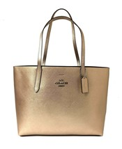 Coach Women's Metallic Avenue Tote No Size (Sv/Platinum Chesnut) - $222.75