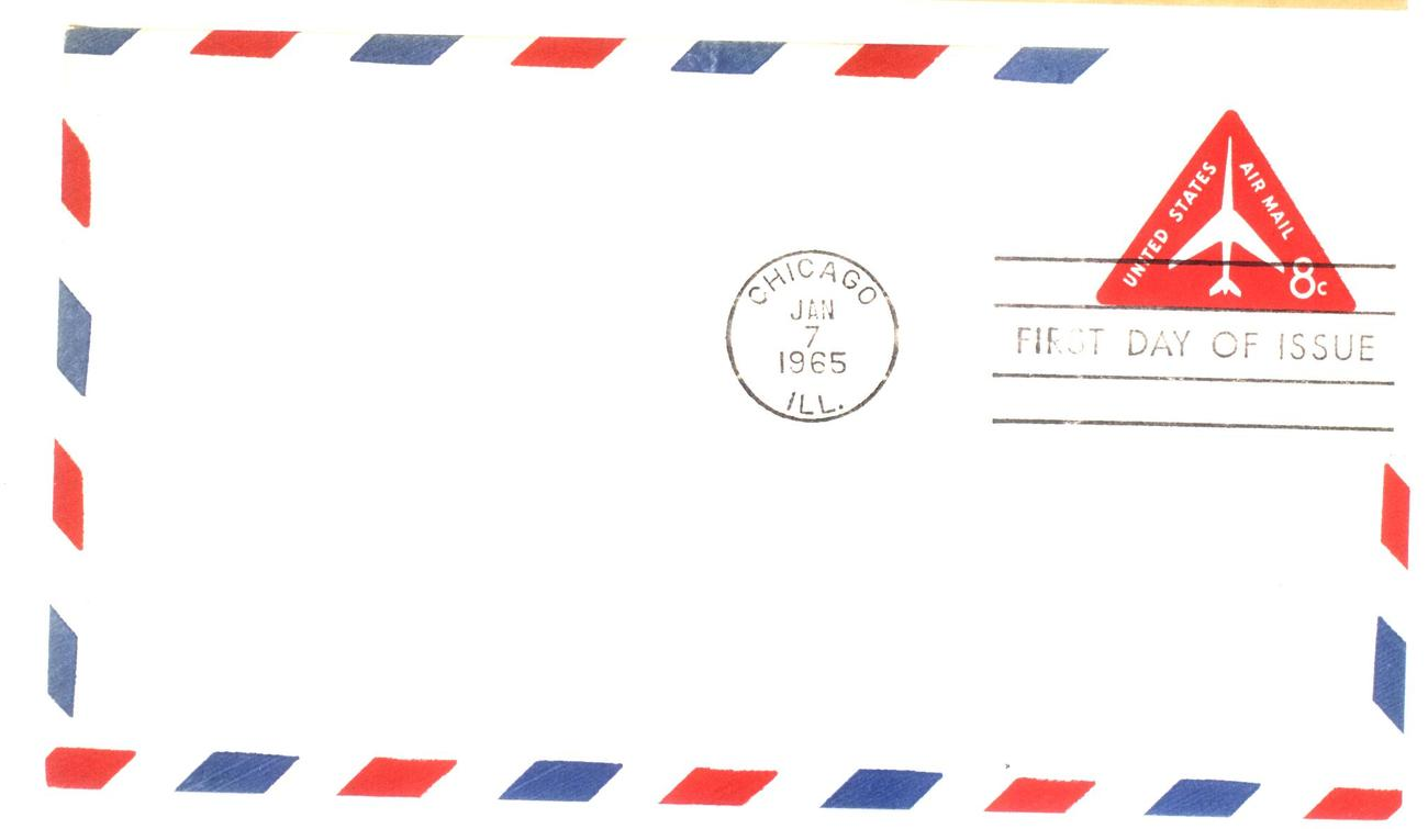 8 cents stamped envelope fdc