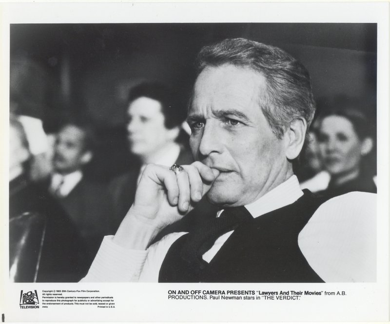 The Verdict Press Publicity Photo Paul Newman Lawyers and Movies Film Movie