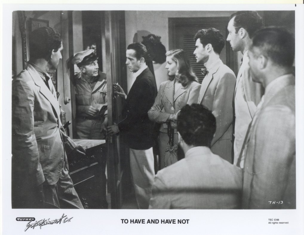 To Have and Have Not Humphrey Bogart Lauren Bacall Ensemble Press Promo Photo #2