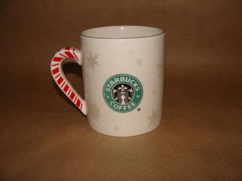 Starbucks BARISTA 2001 CANDY CANE MERMAID HOLIDAY CHRISTMAS COFFEE MUG CUP