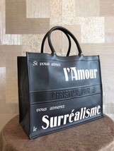 NWT AUTH CHRISTIAN DIOR 2019 BLACK OBLIQUE BOOK TOTE BAG LIMITED RUNWAY  image 3
