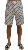 New $530 Dolce & Gabbana Men White Black Striped Casual Shorts It52-Xl - $183.13